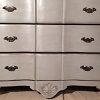 Chest Of Draws Grey White Glaze Black Tinted Top PF701.JPG